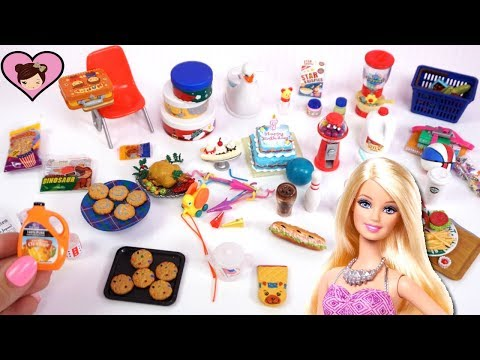 Barbie Doll Food, School Supplies and Grocery Store Accessories - American Life Rement