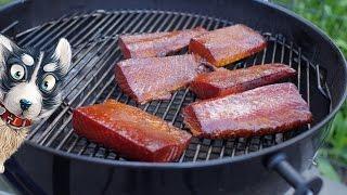 Копчение лосося на гриле с глазурью