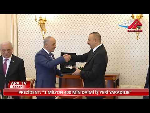 TÜRK İŞ GENEL BAŞKANI ERGÜN ATALAY AZERBAYCAN BAŞKANI HAYDAR ALİYEV ZİYARETİ