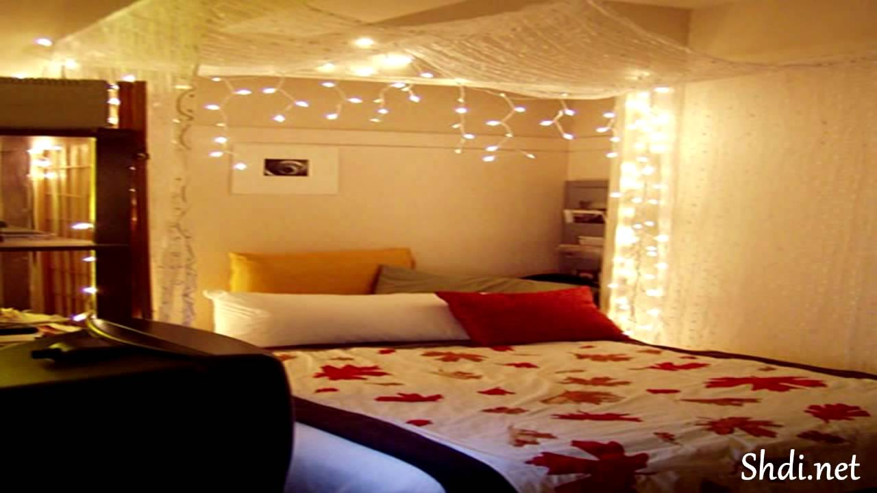 Romantic wedding bedroom design bridal room decoration for Bed decoration with net