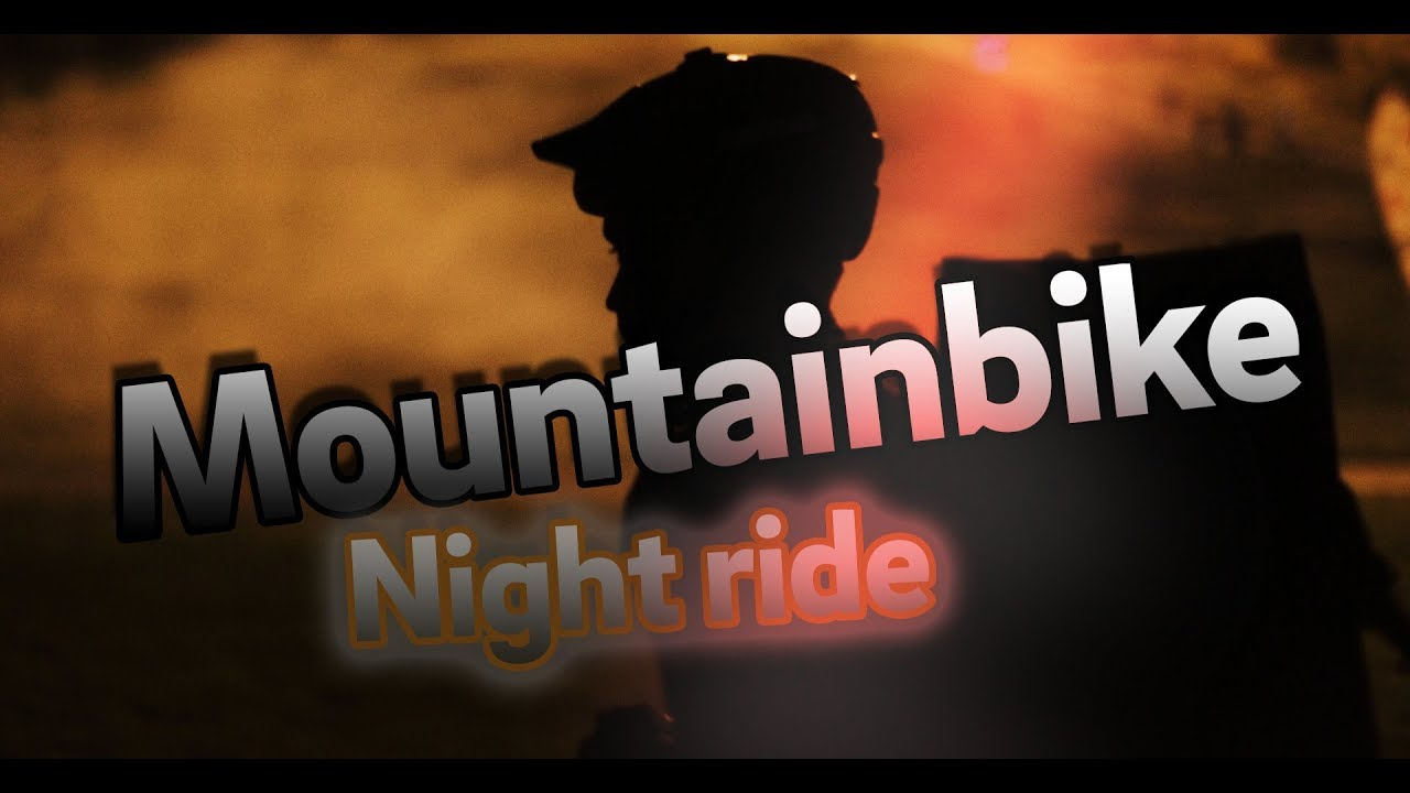 Mountainbike in complete darkness