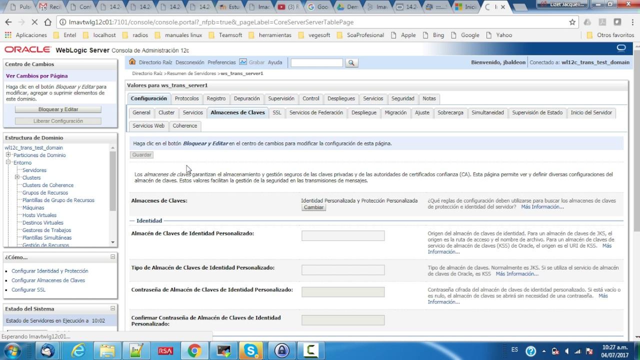 instalar certificado ssl sobre weblogic 12c