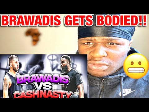 CashNasty turns into ZION williamson | Cash vs Brawadis 1v1 Rivalry Basketball Game! (REACTION)