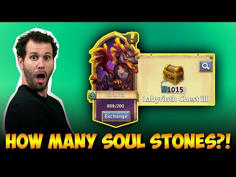 Opening 1600+ Labyrinth Chest 3 For LAVANICA Soulstones Castle Clash