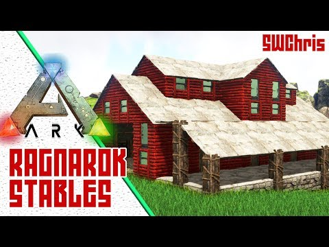 Cool ARK Ragnarok Barn and Stable - Exploring ARK Ragnarok Official Map - Awesome ARK Base Locations