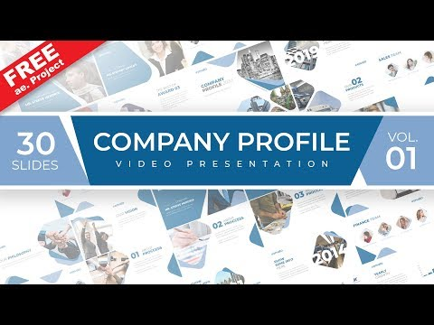 After Effects business template free - Company Profile Sample.