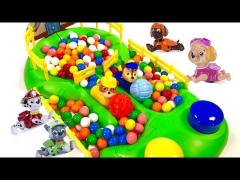 Thumbnail: Best Learning Colors Video for Children Paw Patrol Chase Rubble Gumball Race | Fizzy Fun Toys