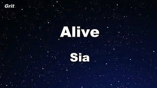 Alive - Sia Karaoke 【No Guide Melody】 Instrumental