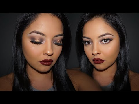 FULL FACE Gold Glitter Glam Tutorial! | fakeupwithalexia