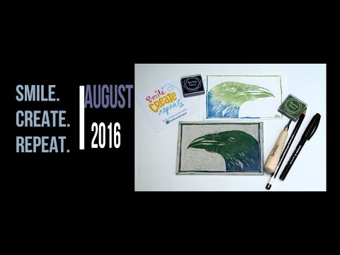 smile-create-repeat-august-2016:-unboxing---soft-block-carving-and-printing.