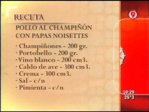 Pollo al champi on con papas noisettes 3 de 3 ariel for Cocina 9 ariel rodriguez palacios pollo relleno
