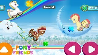 Pony Friends 🦄 - Beepzz racing game for kids ( by Abuzz ) | Princess drives her favorite pony.