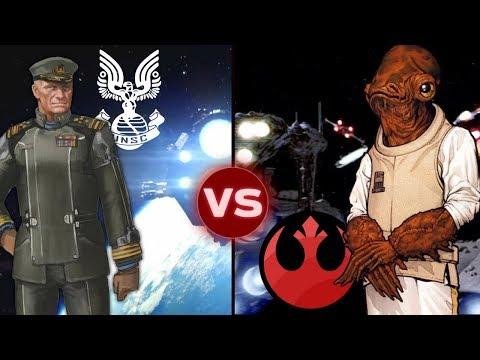 The UNSC Home Fleet vs the Rebel's Fleet at Endor | Halo vs Star Wars: Galactic Versus