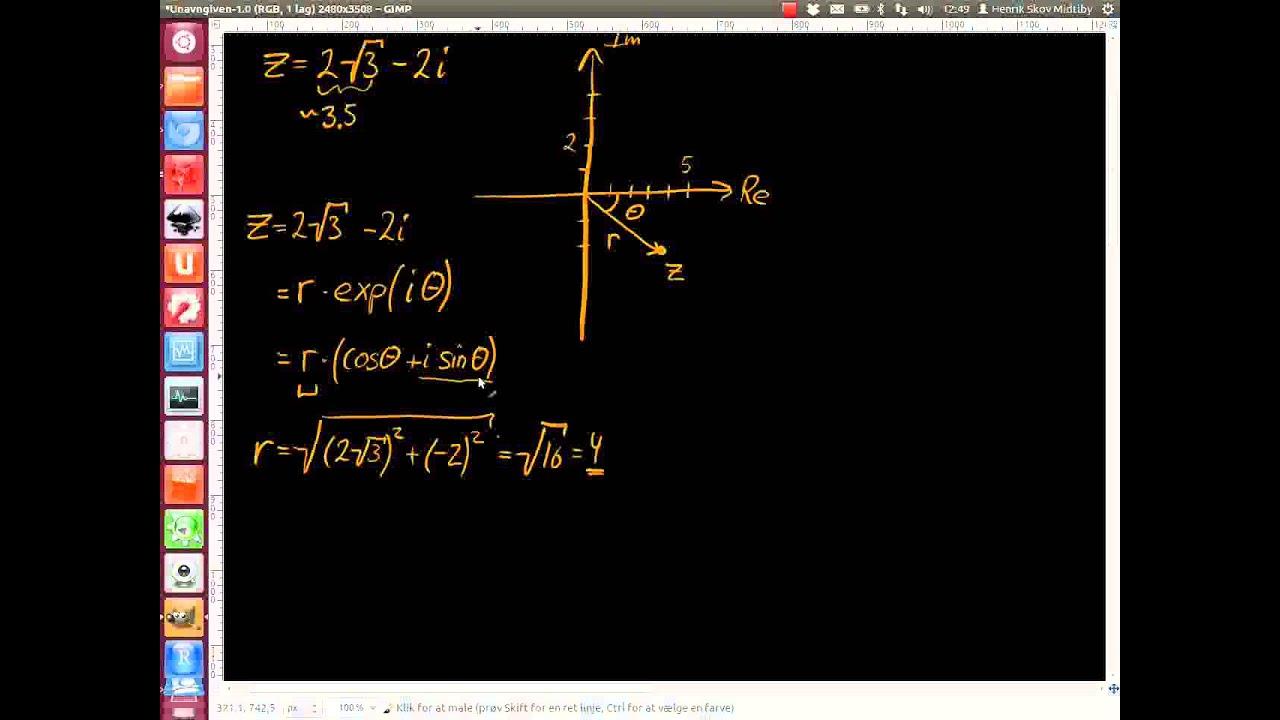 2012-06-27 Opgave 1. Komplekse tal