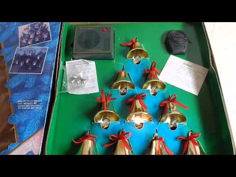 Mr. Christmas Bells of Christmas Lighted Musical Brass Bells with Remote Control