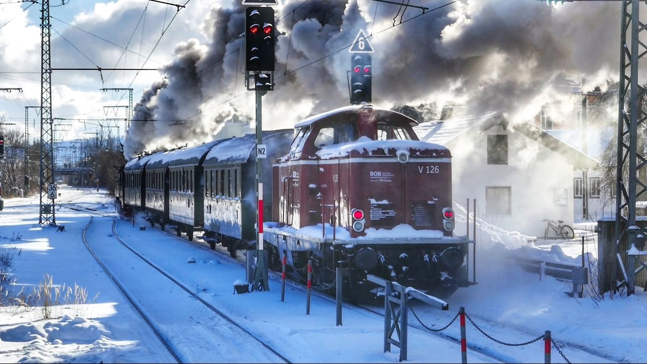 steam train at kaiswetter in the station holzkirchen - germany ... - Holzkchen Modern
