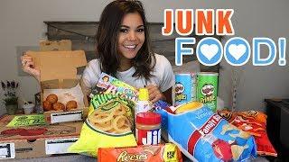 ON MY PERIOD MUKBANG!!! JUNK FOOD yummy | Steph Pappas