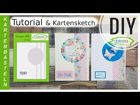 1x1 Kartenbasteln für Anfänger  – Kartensketche & Sketch Nr.1  [Tutorial | Anleitung | deutsch] thumbnail