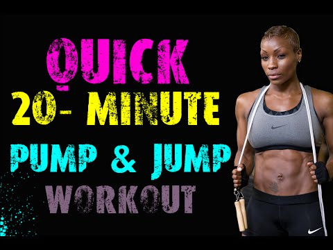 20 Minute Jump & Pump: Jump Rope Cardio and Dumbbell Strength Home Workout