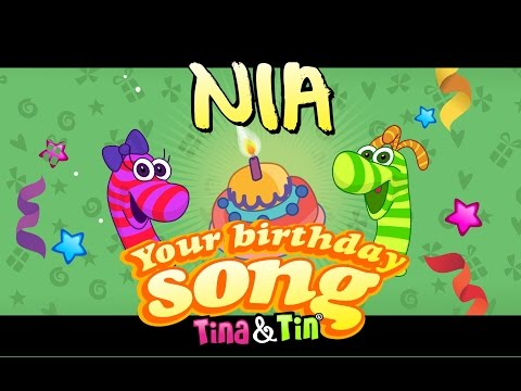Tina&Tin Happy Birthday NIA (Personalized Songs For Kids) #PersonalizedSongs