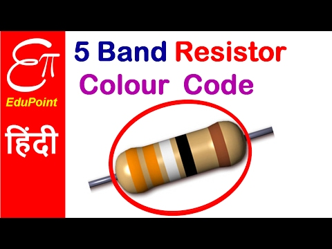 5 Band Resistor Colour Code | video in HINDI | EduPoint