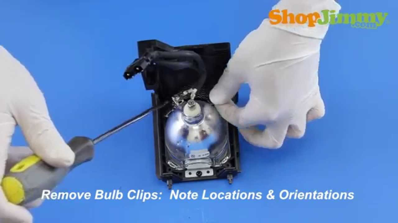 medium resolution of replacing a mitsubishi dlp tv lamp 915b403001 bulb lamp how to repair dlp tvs youtube