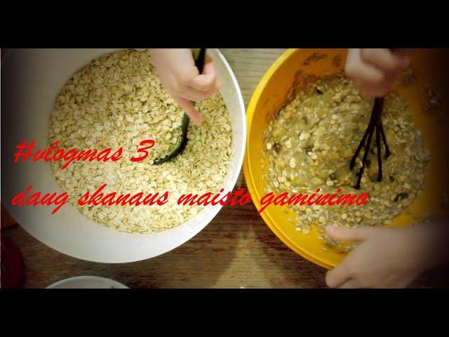 #vlogmas 3 - broliukai gamina sausainius / daug skanaus maisto / Vegan Pipiras