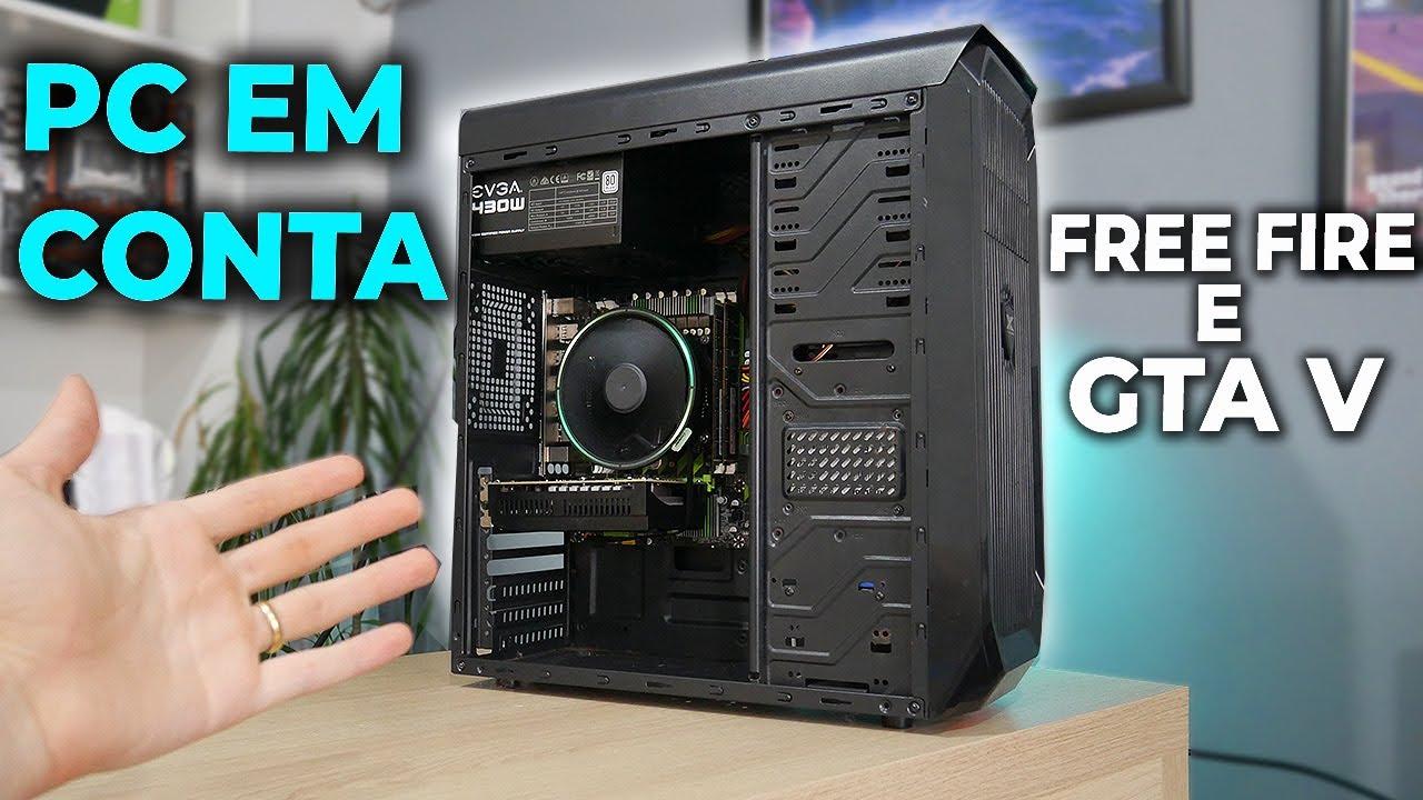 PC GAMER BARATO PRA FREE FIRE E GTA V, PREÇO BACANA! MONTAGEM E TESTES 2021