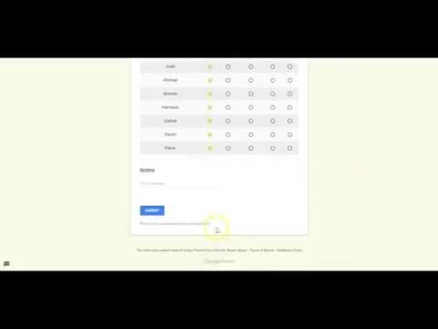 Creating Attendance Record on Google Forms
