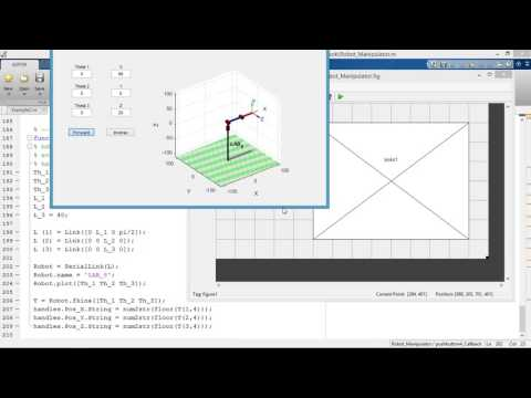 Using [peter corke] robotics toolbox with Matlab GUI
