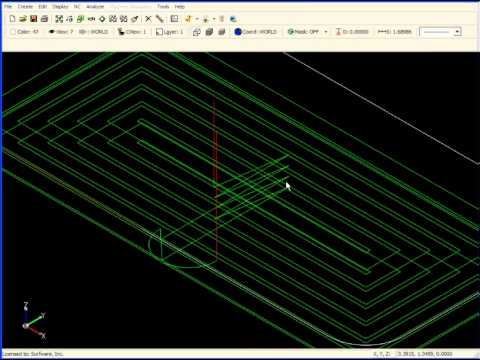SURFCAM Tutorial - 2-Axis: Advanced Pocket Machining