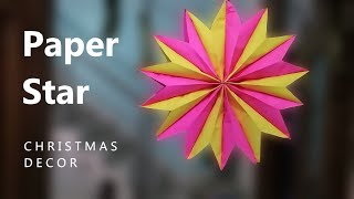 Wall Hanging Paper Star for Christmas decoration