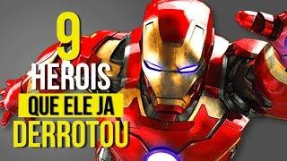 Homem de ferro - 9 herois que o homem de ferro derrotou e vocÊ talvez nÃo sabia