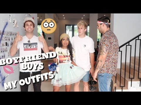 BOYFRIEND BUYS GIRLFRIEND'S OUTFITS! (Shopping Challenge 2017)