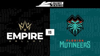 Group Stage | Dallas Empire vs Florida Mutineers | Toronto Ultra Home Series | Day 1