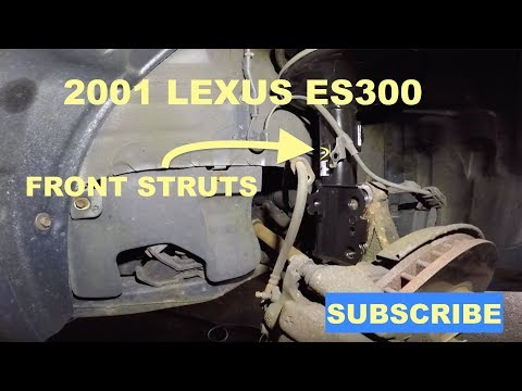 How to replace front struts on 2001 lexus ES300