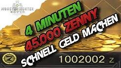 Monster Hunter World - Schnell Geld machen, 4 Min = 45.000 Zenny (Deutsch/German)- MH