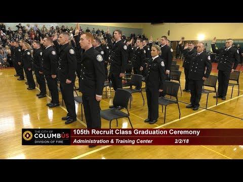 2018 Columbus Division of Fire Graduation Ceremony, Feb 2, 2018