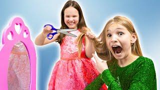 Авелина и Амелия делают причёски и красят волосы