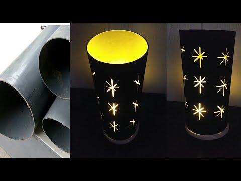 Cara Membuat Lampu Hias Motif Bintang Dari Paralon PVC || DIY How to Make Decorative Lights from PVC