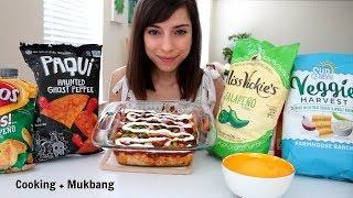 CHIPS & BBQ CHICKEN DIP MUKBANG