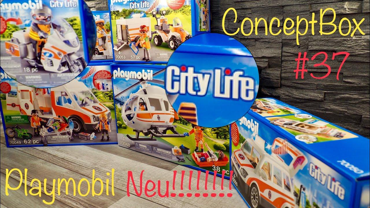 City Life PLAYMOBIL 70049 Rettungswagen mit Licht und Sound