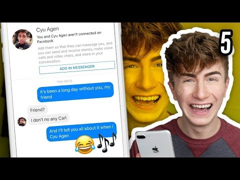 Pranking People on Facebook with Song Lyrics | PART 5