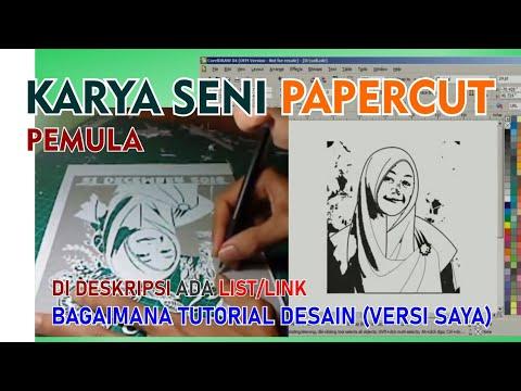 Tutorial - Papercut Indonesia - Seni Lukis Kertas menggunakan Cutter