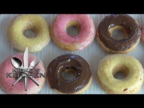 VEGAN DONUTS  Nickos Kitchen  YouTube