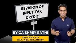 CA Inter GST Revision Videos | Input Tax Credit | | CA IPCC |