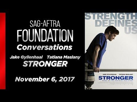 Conversations with Jake Gyllenhaal and Tatiana Maslany of STRONGER