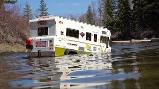 "Family Camper Goes too Deep - ""Indian"" Winnebago Tonka Truck Conversion | RC ADVENTURES"