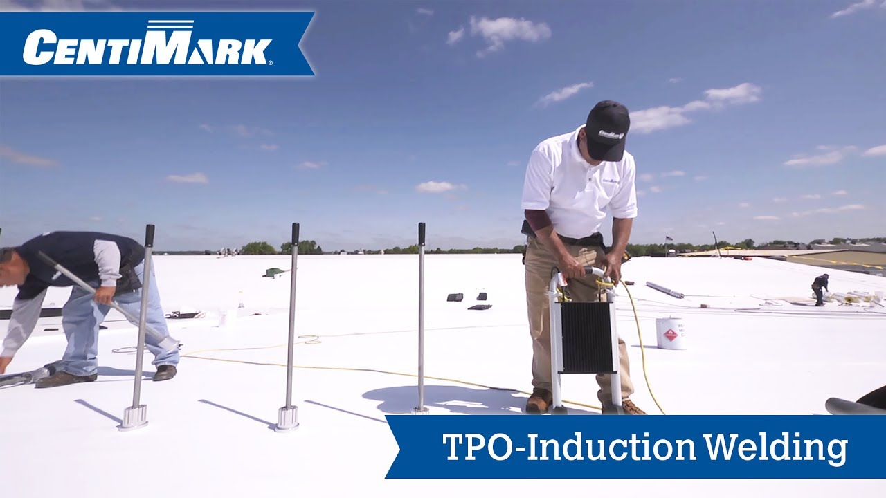 Tpo Mechanically Attached Membrane With Induction Welding