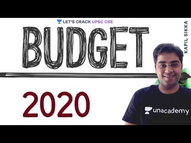 Budget 2020 Highlights | UPSC CSE/IAS 2020/2021 | Kapil Sikka